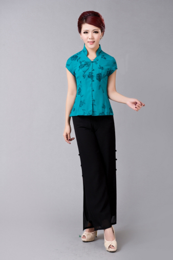 Turquoise Blue Blouse