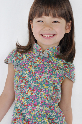 Multi-Colour Girls Cheongsam