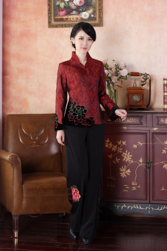 Deep Red Chinese Jacket