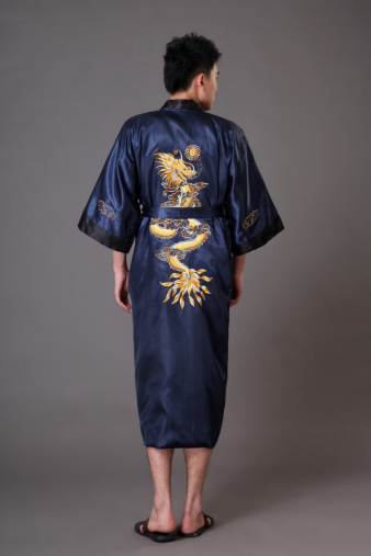Blue Chinese Dragon Robe