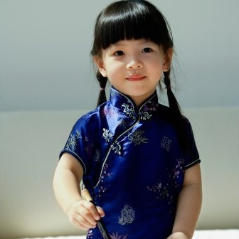 Brocade Flower Girls Cheongsam