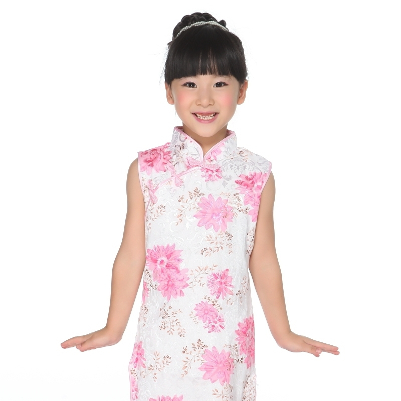 Girls Floral Fabric Cheongsam
